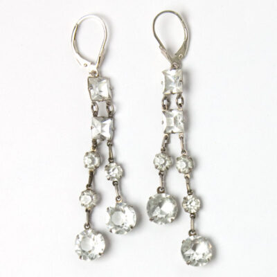 Art Deco chicklet dangling earrings
