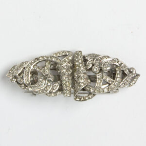 Diamante 1940s brooch