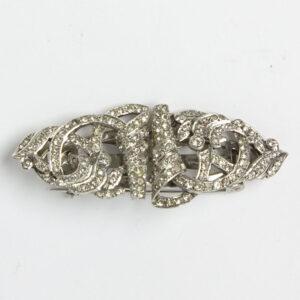 Diamante 1940s brooch