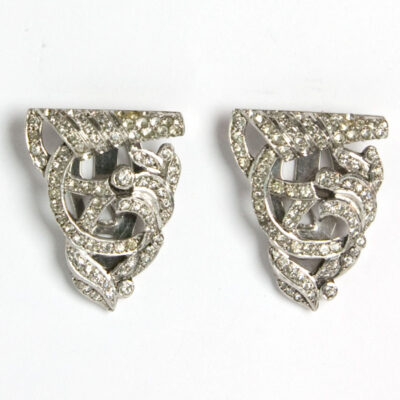 Pair of diamante dress clips