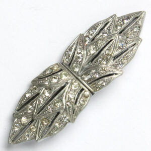 Art Deco dress clips on brooch mechanism