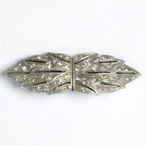 French Art Deco brooch/pair of dress clips