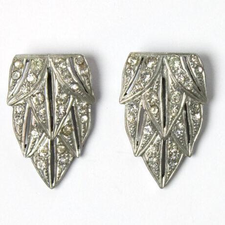 Pair of diamante dress clips