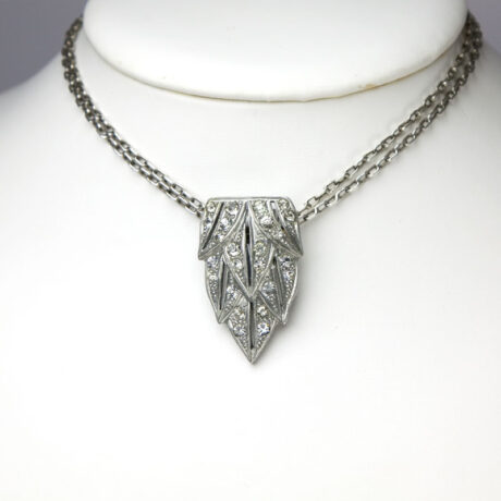 Clip worn as a pendant on sterling chain