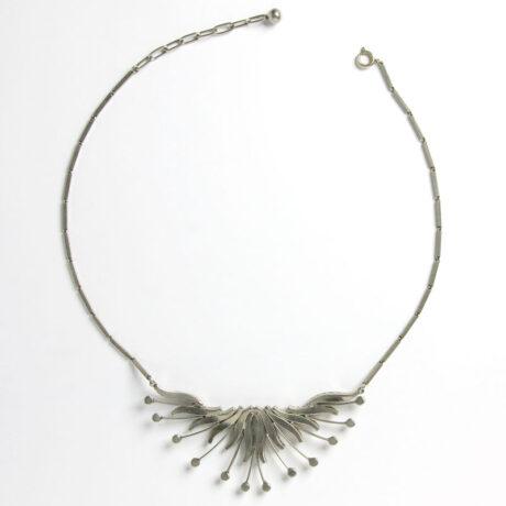 Back of vintage bib necklace