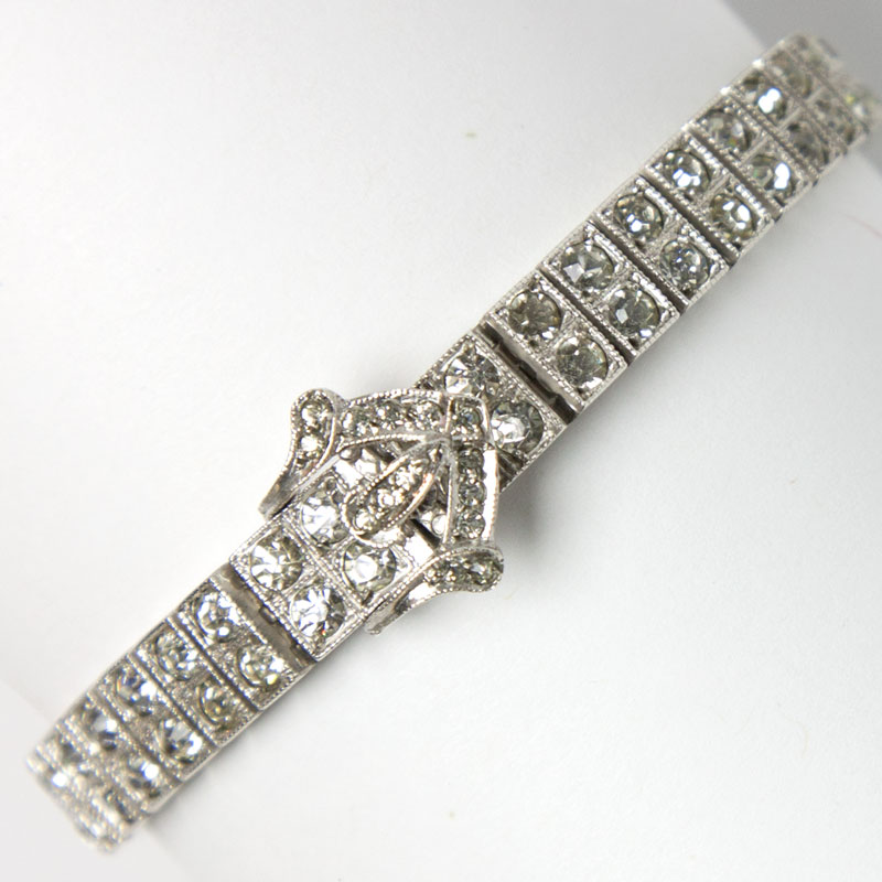 Silver buckle bracelet by Otis