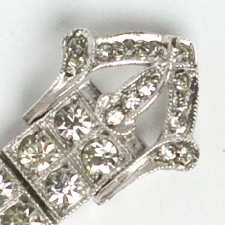 Close-up view of buckle