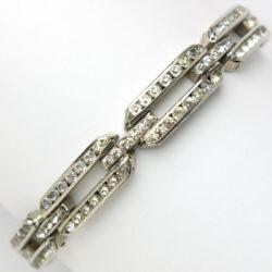 Diamanté silver bracelet with 3 rows