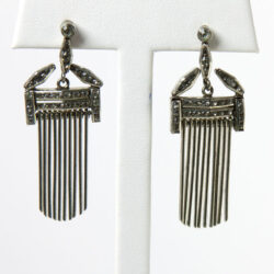 Fringe earrings with diamanté