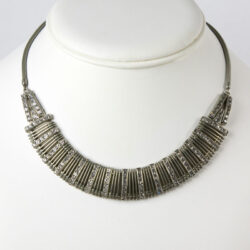Snake chain necklace with diamante