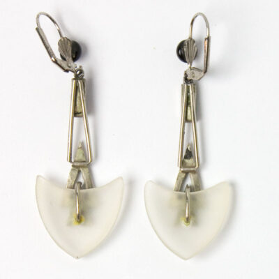 View of earring backs, showing construction