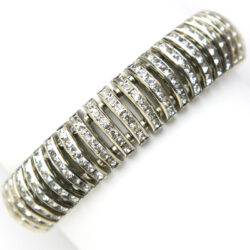 German flexible bracelet with diamante
