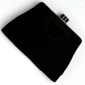 Vintage clutch purse in black velvet