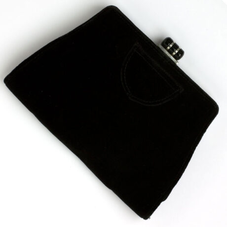 Vintage clutch purse in black velvet