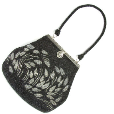 1930s handbag with black & silver beads