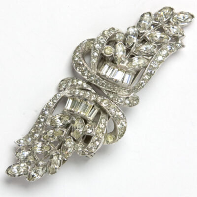 Diamante dress clips or brooch