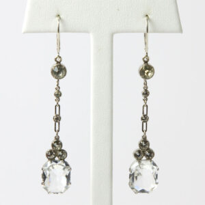 Art Deco crystal earrings with diamante
