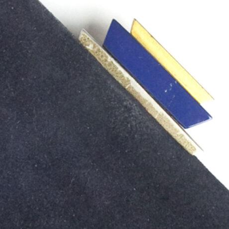 Close-up view of handbag clasp