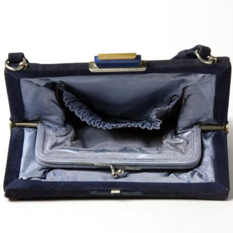 One side of handbag interior