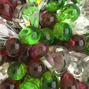 Close-up view of blown-glass beads & diamante