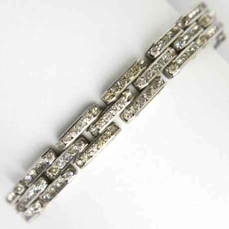 Diamanté link bracelet from 1930s Germany