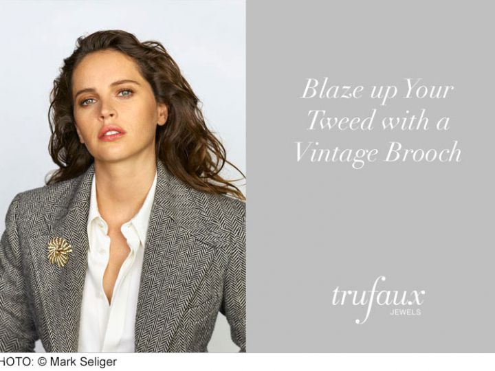 Blaze Up Your Tweed with a Vintage Brooch