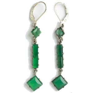 Late-1920s chrysoprase earrings