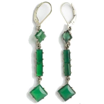 Late-1920s chrysoprase earrings