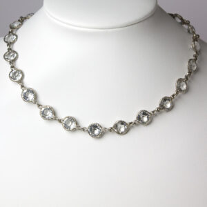 Crystal and silver necklace