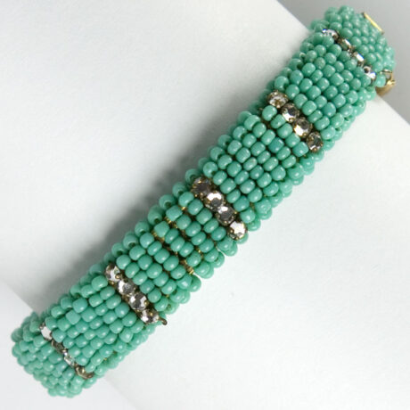 Turquoise bead bracelet by Miriam Haskell