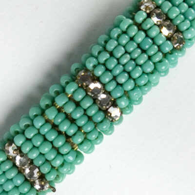 Close-up view of tiny beads & diamante