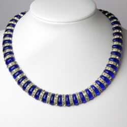 Cobalt blue necklace with rondelles
