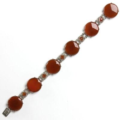 Wachenheimer Bros.' carnelian & sterling bracelet