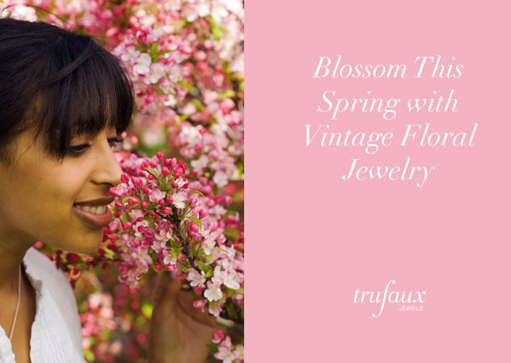Blossom This Spring with Vintage Floral Jewelry