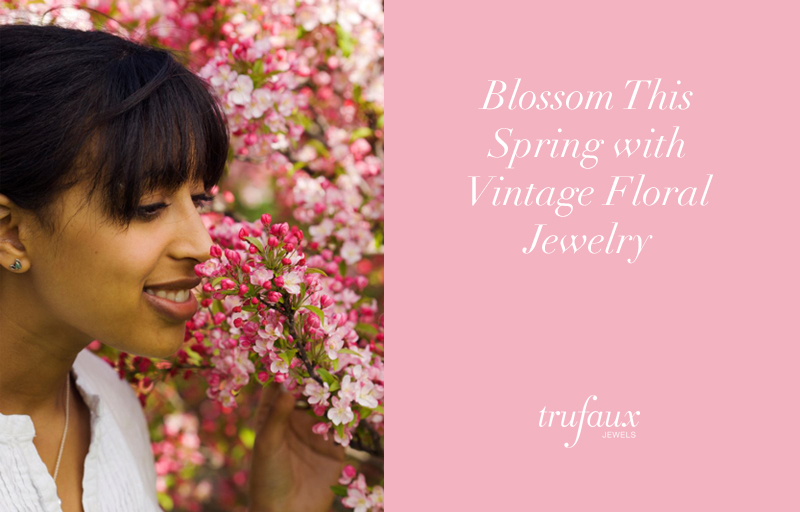 Styling tips for vintage floral jewelry