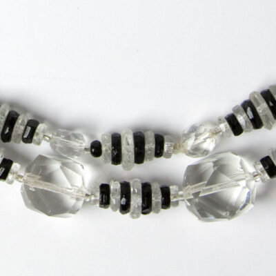 Close-up view of beads w/stripes